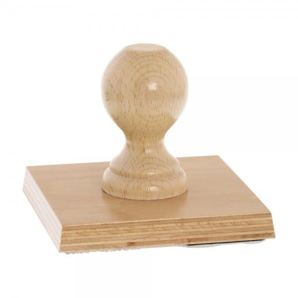 Holzstempel (120x120 mm - 24 Zeilen)