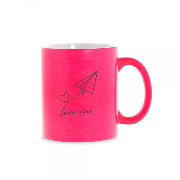 "Neon Tasse ""Love you"" (Gravurmaß 70x70 mm)"