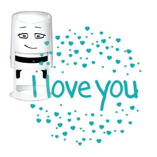 NIO Stempelmotiv - i love you-heart sparkles