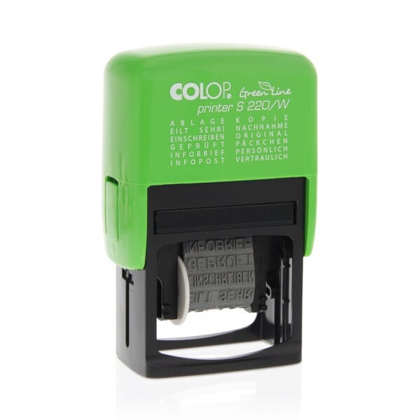 Colop Printer S 220/W Green Line (25x4 mm)