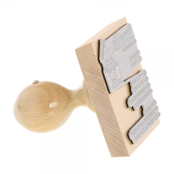 Holzstempel (90x90 mm - 20 Zeilen)