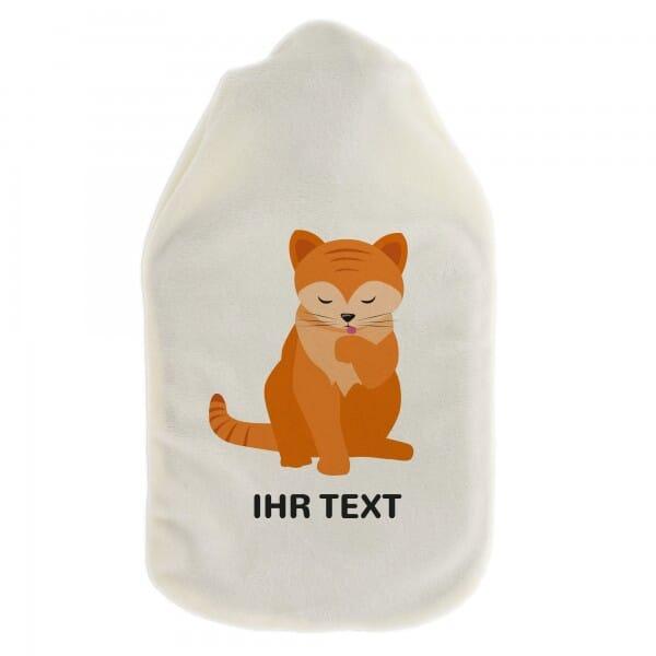 "Wärmflasche ""Katze"" inkl. individueller Druck"