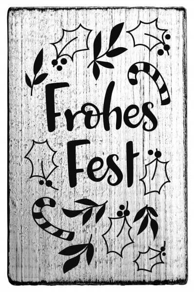 """Vintage Stempel """"Frohes Fest"""""""