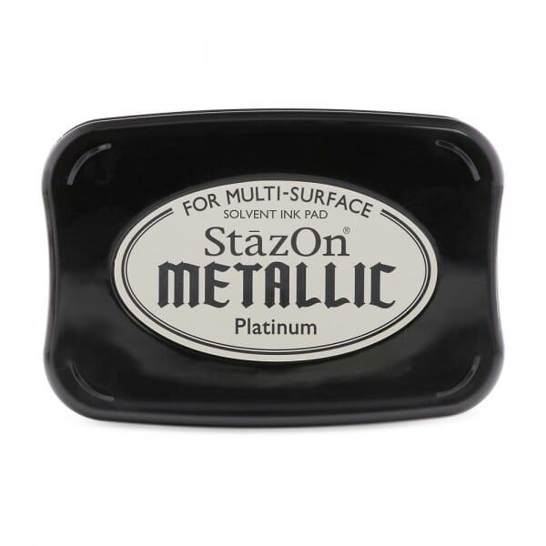 Tsukineko - Metallic Platinum Stazon Stempelkissen (7.5 x 4.5 cm)