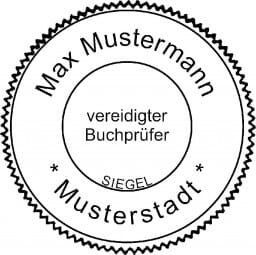 Siegelstempel Vereidigter Buchprüfer (ø50 mm)