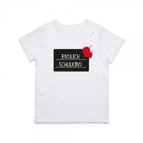 """Kinder T- Shirt """"Endlich Schulkind"""""""