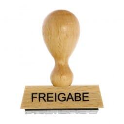 Holzstempel FREIGABE (50x10 mm - 1 Zeile)