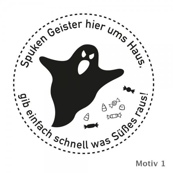 Halloween - Holzstempel (Ø 40 mm)