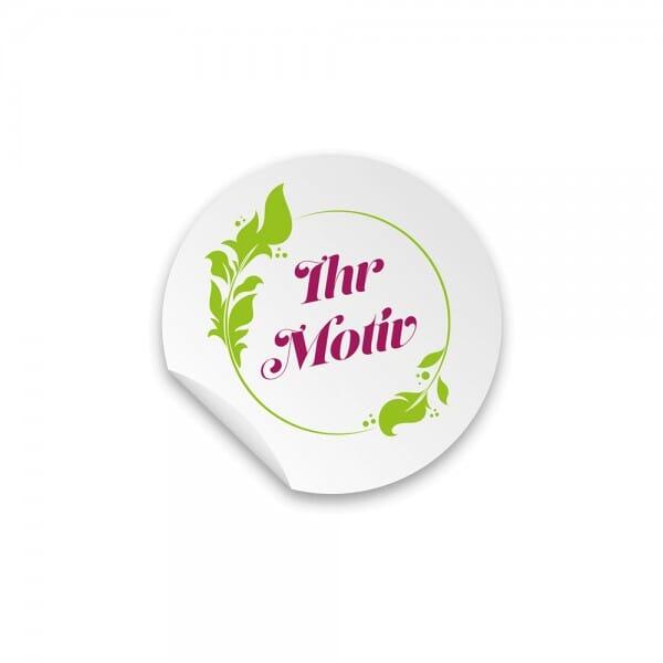 Individuelle Sticker rund 40 mm / CMYK Lösemittel Digitaldruck