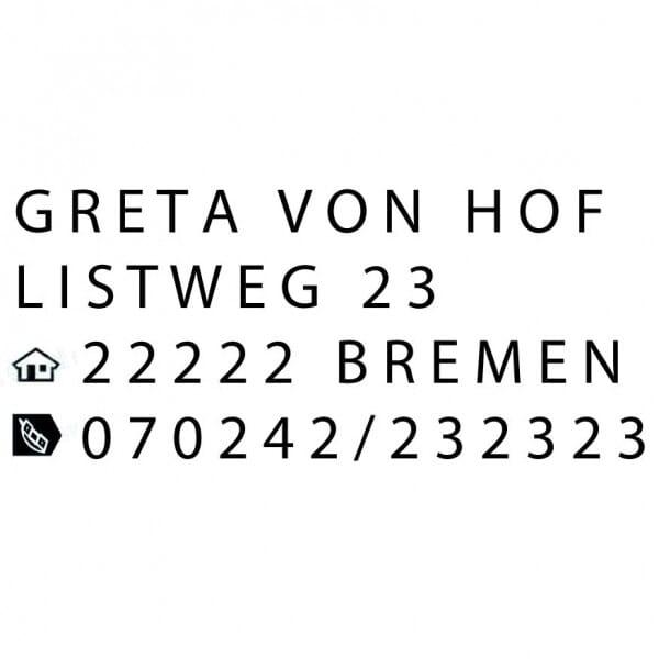 Trodat Printy Typomatic 4912 (47x18 mm - 4 Zeilen)