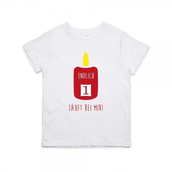"""Kinder T- Shirt zum 1.Geburtstag """"Endlich 1"""""""