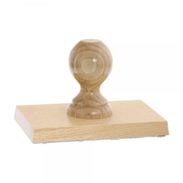 Holzstempel (150x100 mm - 20 Zeilen)
