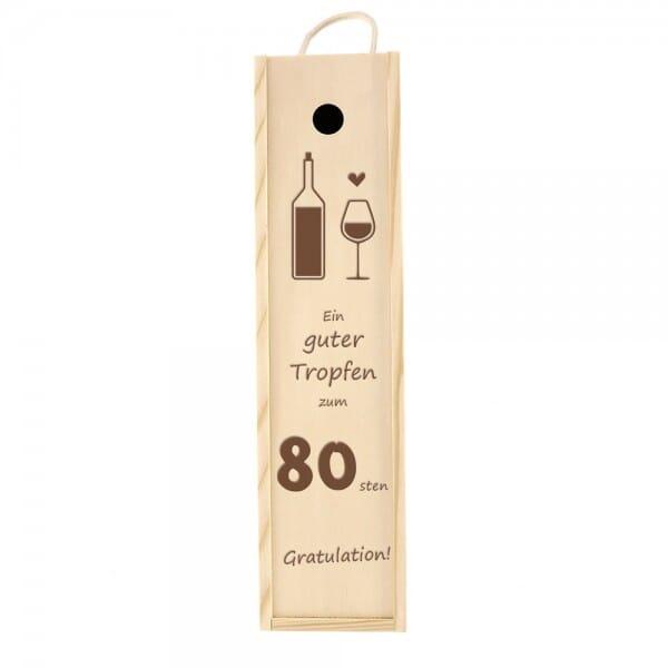 Weinkiste/Geschenkkiste zum 80. Geburtstag
