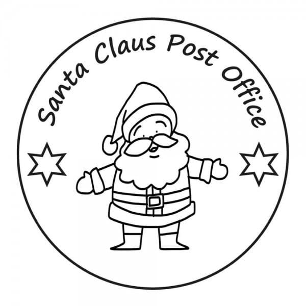 Weihnachten Holzstempel - Santa Claus (Ø 40 mm)