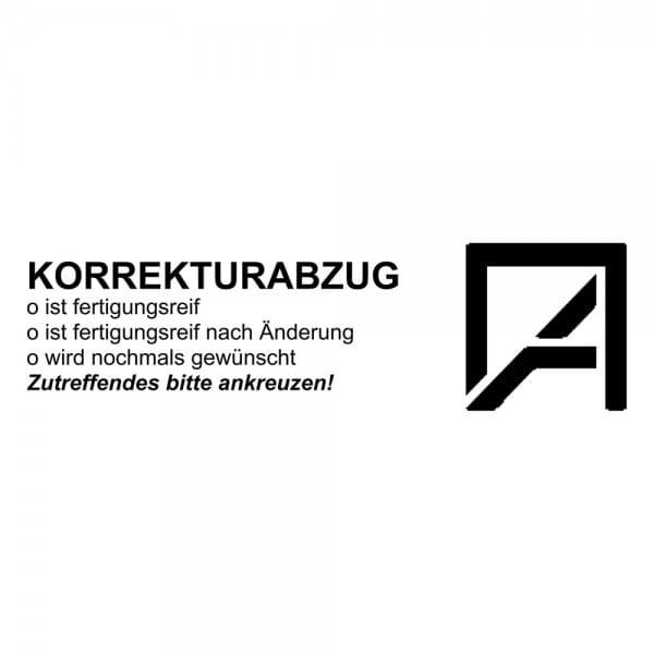 Holzstempel (70x20 mm - 5 Zeilen)