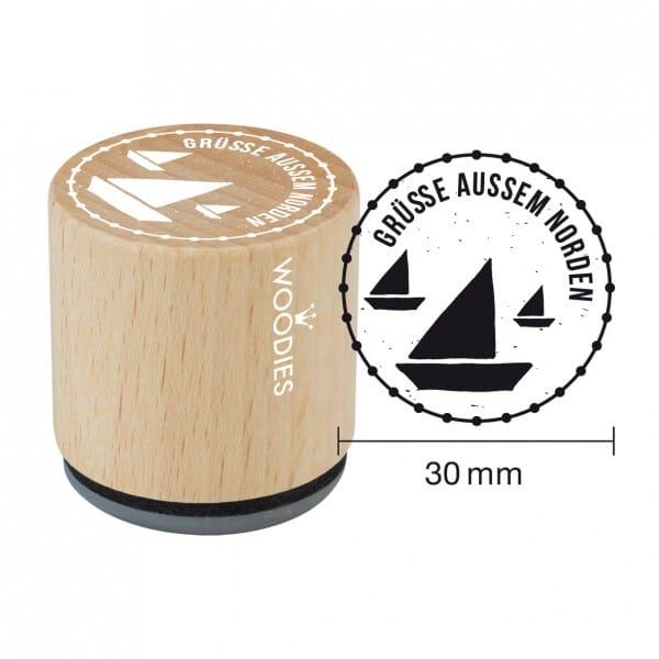 SALE - W10006 Woodies Stempel - Grüße Norden