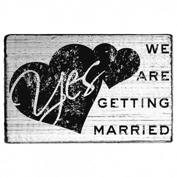 """Vintage Stempel """"We are getting married"""""""