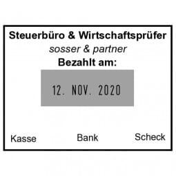 Trodat Classic Datumstempel 2910/P02 (51x38 mm - 6 Zeilen)