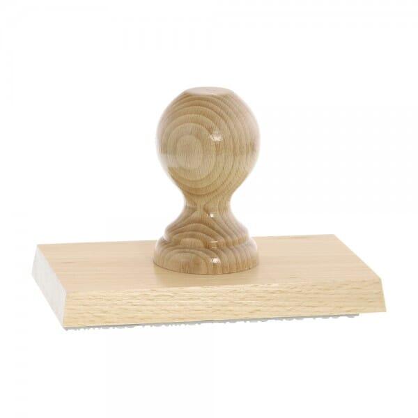 Holzstempel (150x90 mm - 18 Zeilen)
