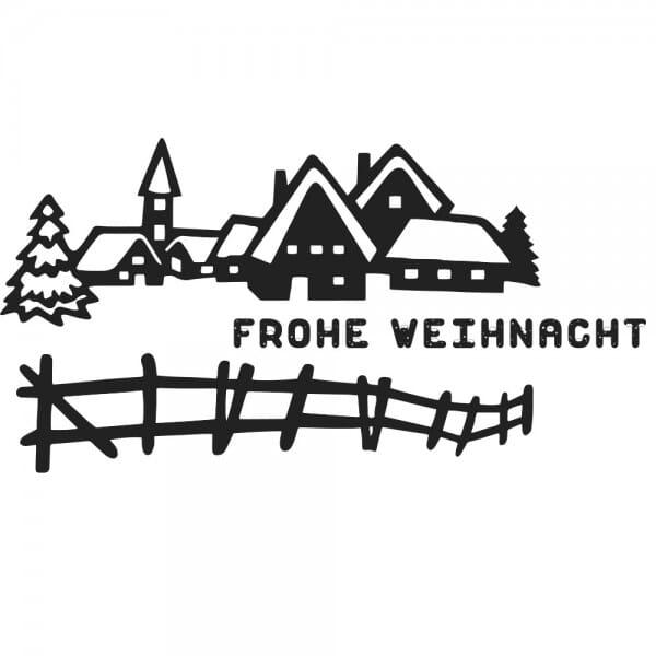Weihnachten Holzstempel - Winterlandschaft (60x30 mm)