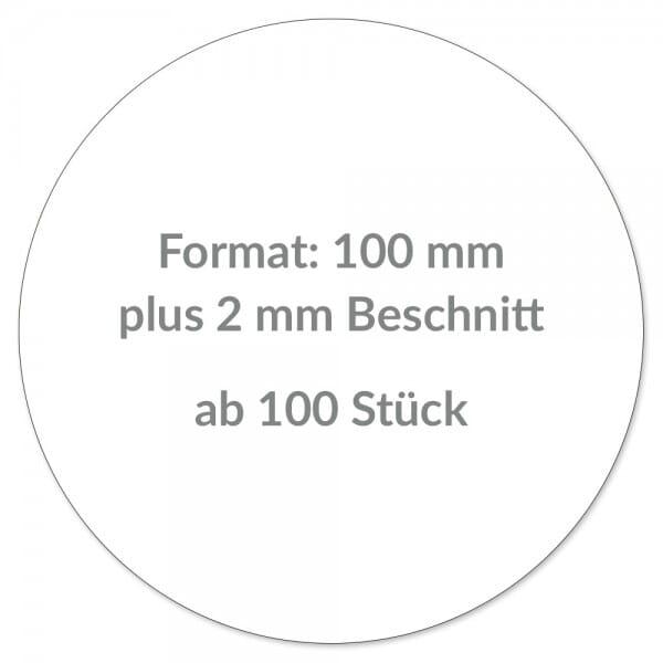 Individuelle Aufkleber rund 100 mm / CMYK Lösem...