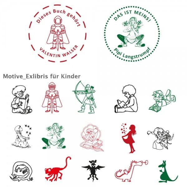 Exlibris Kids Holzstempel / Colop R 40 (Ø 40 mm)