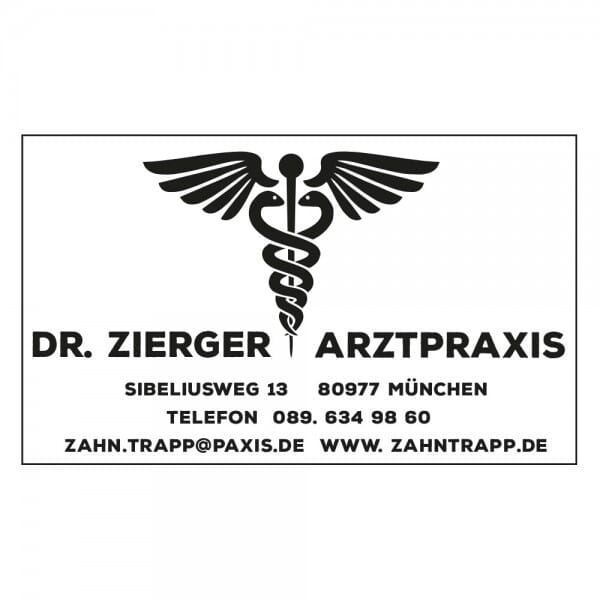 Arztstempel Adresse Holzstempel / Colop Printer 35 (50x30 mm - 6 Zeilen)