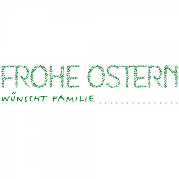 Ostern Holzstempel - Frohe Ostern (70x20 mm)