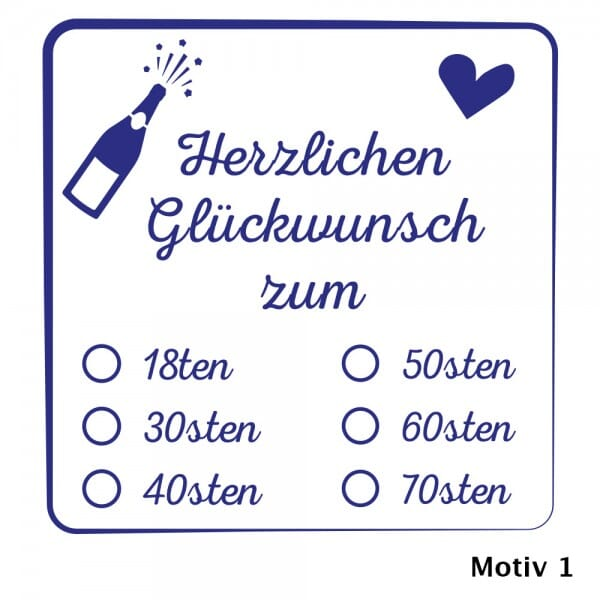 Feierlichkeiten Holzstempel (50x50mm)