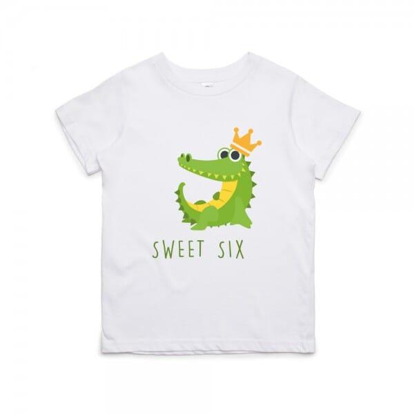 """Kinder T- Shirt zum 6.Geburtstag """"sweet six"""""""