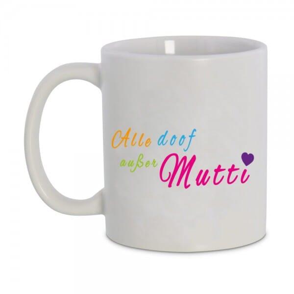 Keramiktasse Tasse mit Motiv Muttertag