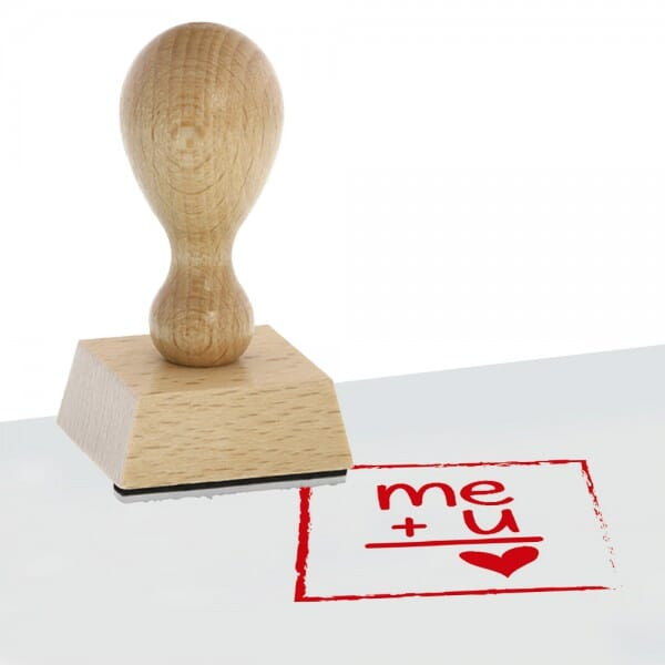 Liebe Holzstempel (50x50 mm)