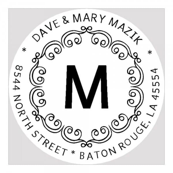 Monogramm-Prägezange rund - Dekorative Bögen mit Initialen