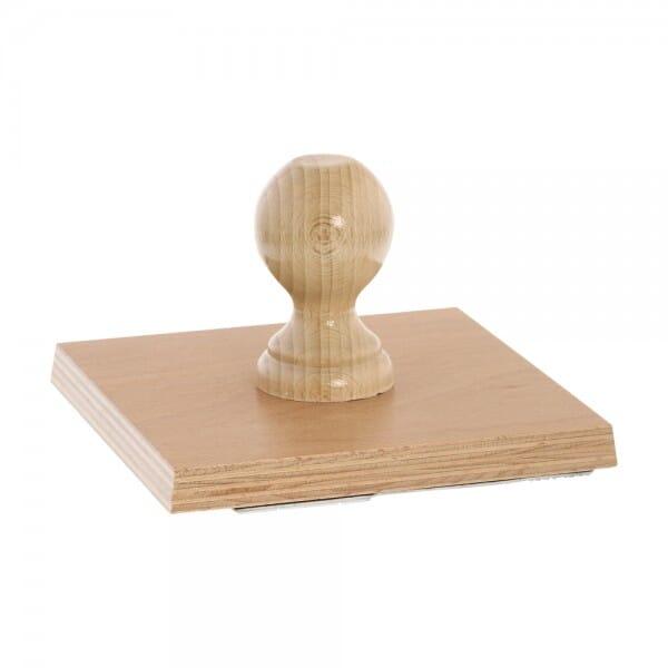 Holzstempel (160x160 mm - 32 Zeilen)