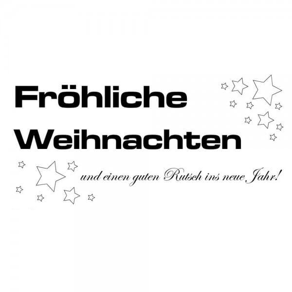 Weihnachten Holzstempel - Stern (60x30 mm)