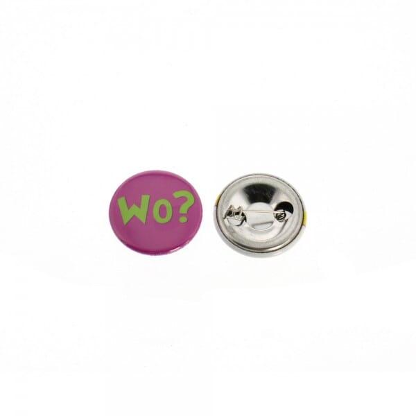 Buttons mit eigenem Motiv & Anstecknadel (ø 25 mm - 10 Stück)