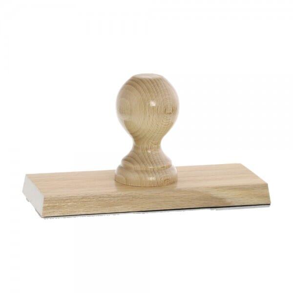 Holzstempel (180x70 mm - 14 Zeilen)