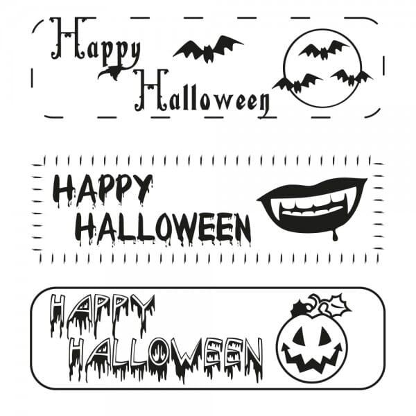 Halloween - Holzstempel (70x20 mm) bei Stempel-Fabrik
