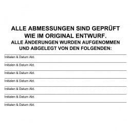 Holzstempel (100x70 mm - 17 Zeilen)