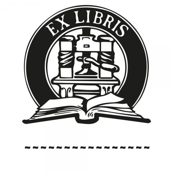 Exlibris Holzstempel - Buch (50x50 mm)