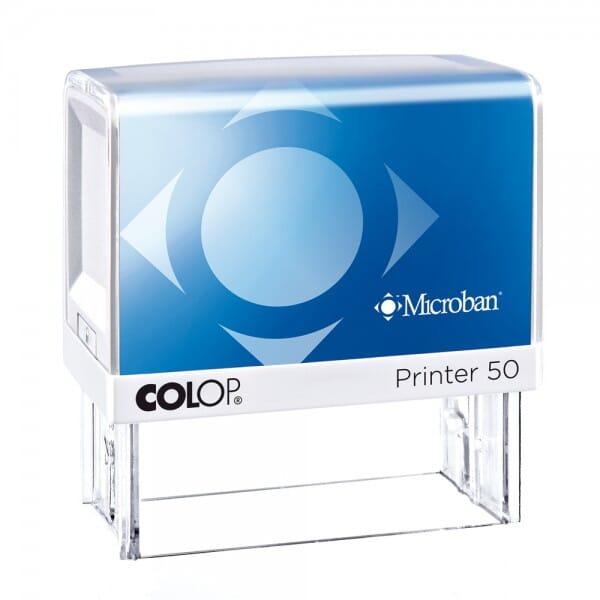 Colop Printer 50 Microban (69x30 mm - 7 Zeilen) bei Stempel-Fabrik