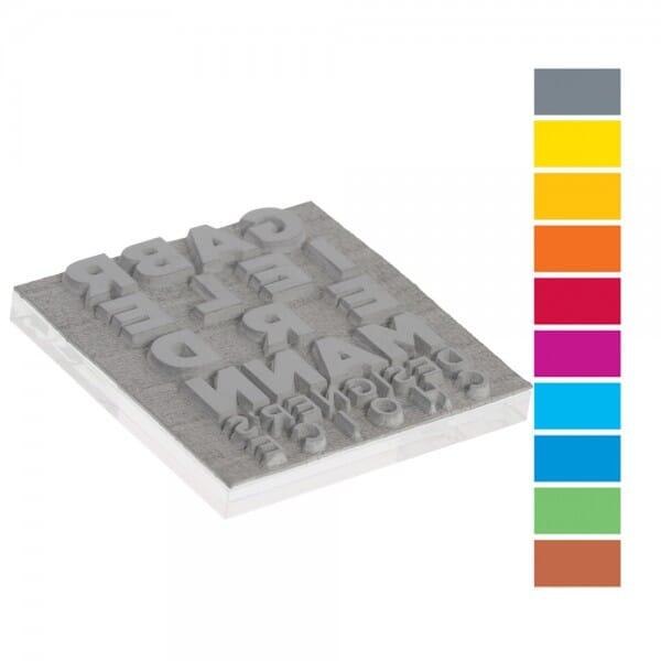 Textplatte für Trodat Mobile Printy PREMIUM 9440-1 (40x40 mm - 8 Zeilen)
