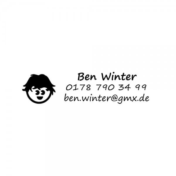 Heri switch write & stamp 50622 Kugelschreiberstempel schwarz/silber (33x8 mm - 3 Zeilen)