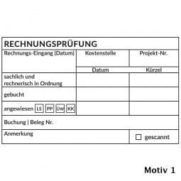 Kontierung- Buchhaltung Holzstempel (100x60 mm)