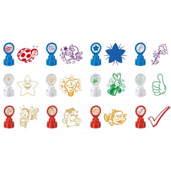 Motivationsstempel - Lehrerstempel mit verschiedenen Motiven (Ø 22 mm - 12 wählbare Motive)