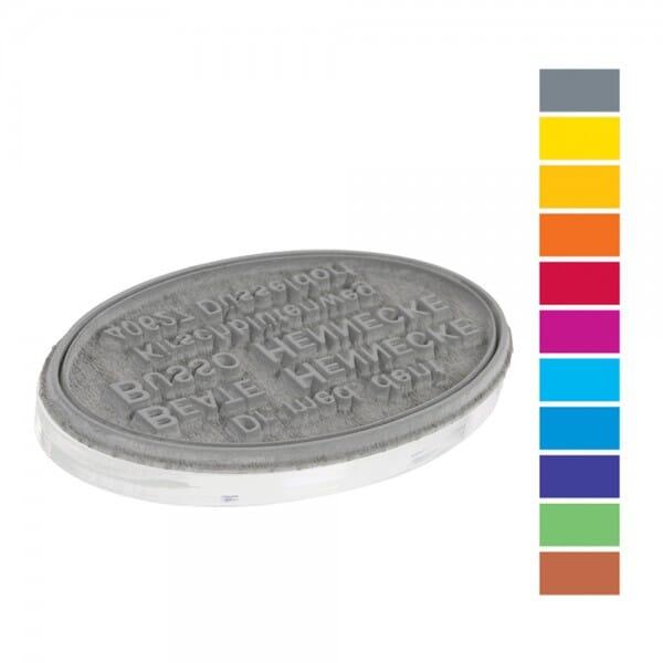 Textplatte für Trodat Printy PREMIUM 44045 oval (45x30 mm - 8 Ze bei Stempel-Fabrik