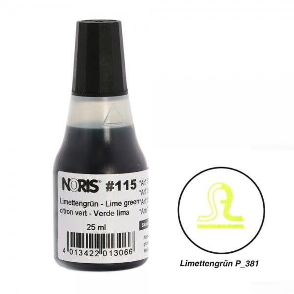 NORIS Stempelfarbe Limettengrün Pantone 381 bei Stempel-Fabrik