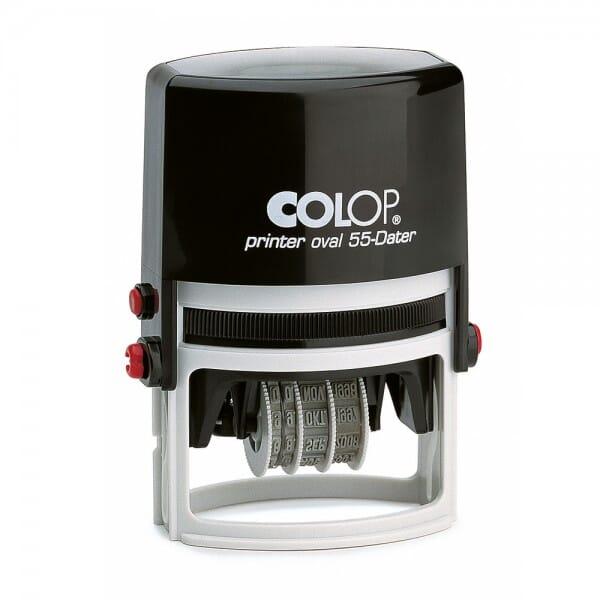 Colop Printer oval 55 Dater (55x35 mm - 5 Zeilen) bei Stempel-Fabrik