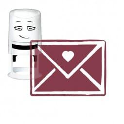 NIO Stempelmotiv - love envelope-Vintage