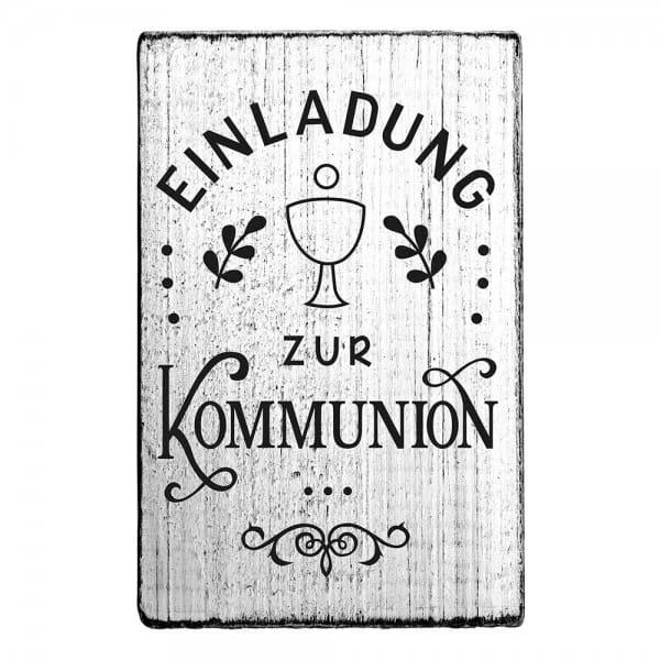 """Vintage Stempel """"Einladung zur Kommunion"""""""